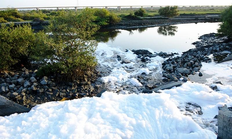 Many drains in Karachi carry untreated effluents. ─ Photo by Amar Guriro