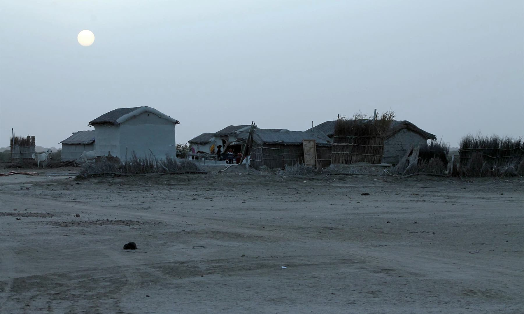 مچھیروں کا ایک ویران گاؤں — تصویر ابوبکر شیخ