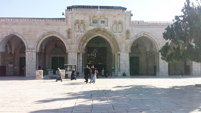 The entrance of Al-Aqsa mosque.