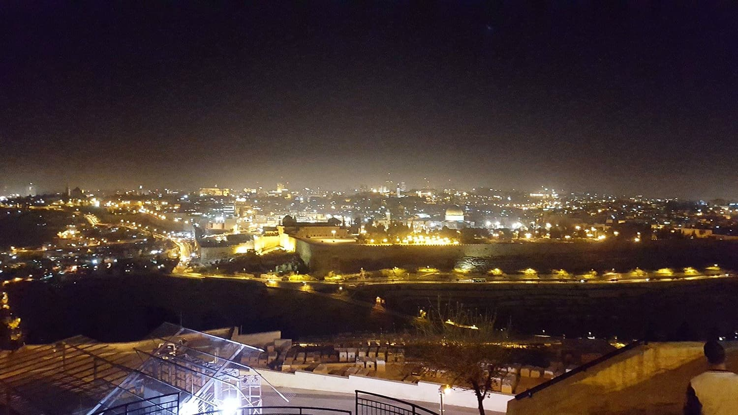 A view of Jerusalem from the Mount of Olives.