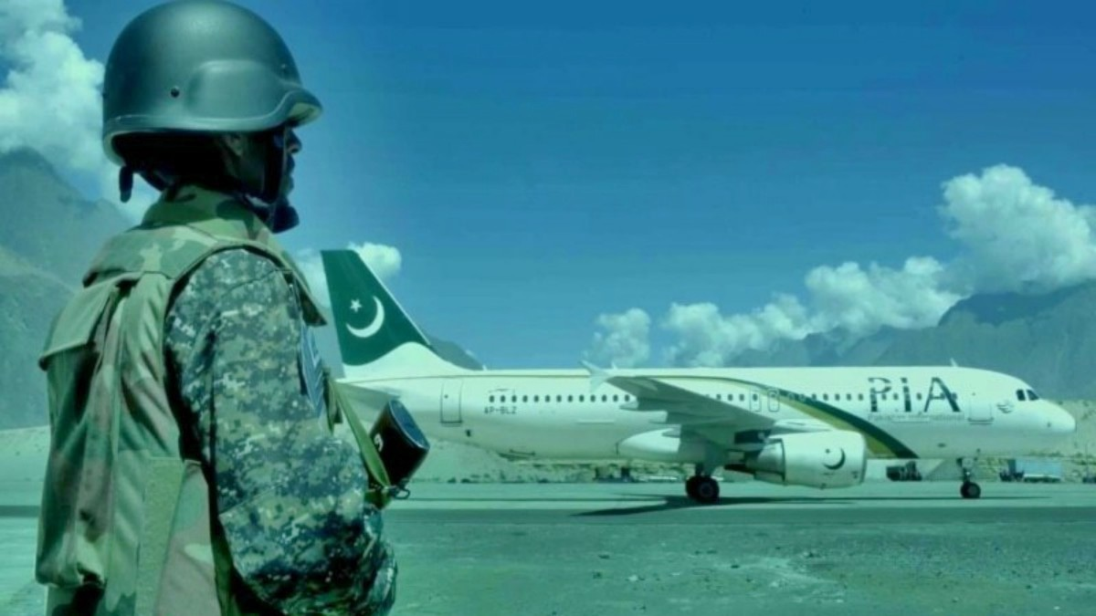 Different shots of the Airport Security Force in the video show their work and training