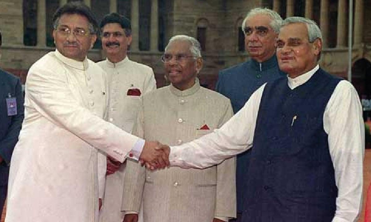 One of the many Musharraf-Vajpayee meetings   ATP