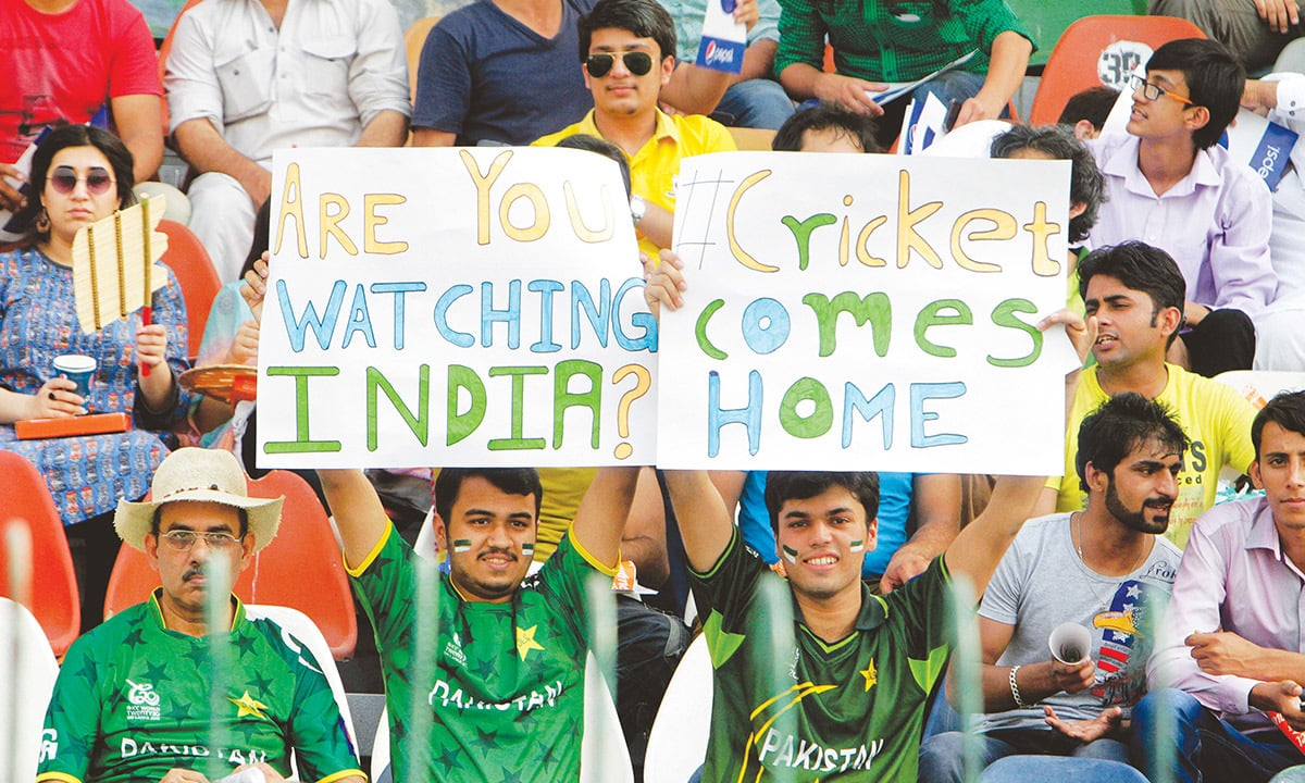 Pakistan cricket supporters at Gaddafi Stadium, Lahore, in May 2015 | Arif Ali, White Star