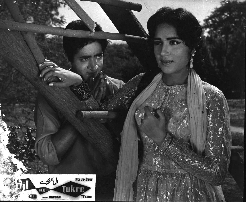 Shamim Ara with her co-star Habib in the 1965 film 'Dil Ke Tukre'. ─ White Star/File