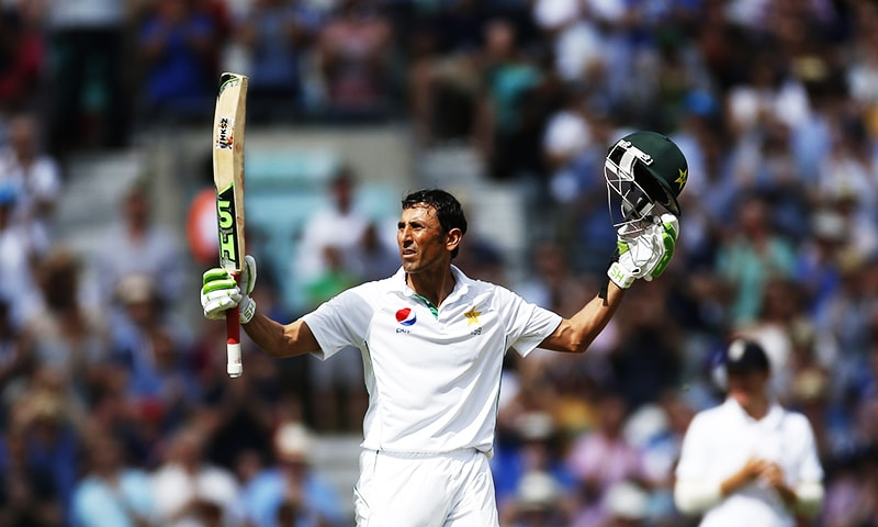 Younis Khan celebrates his 200. — Reuters/File