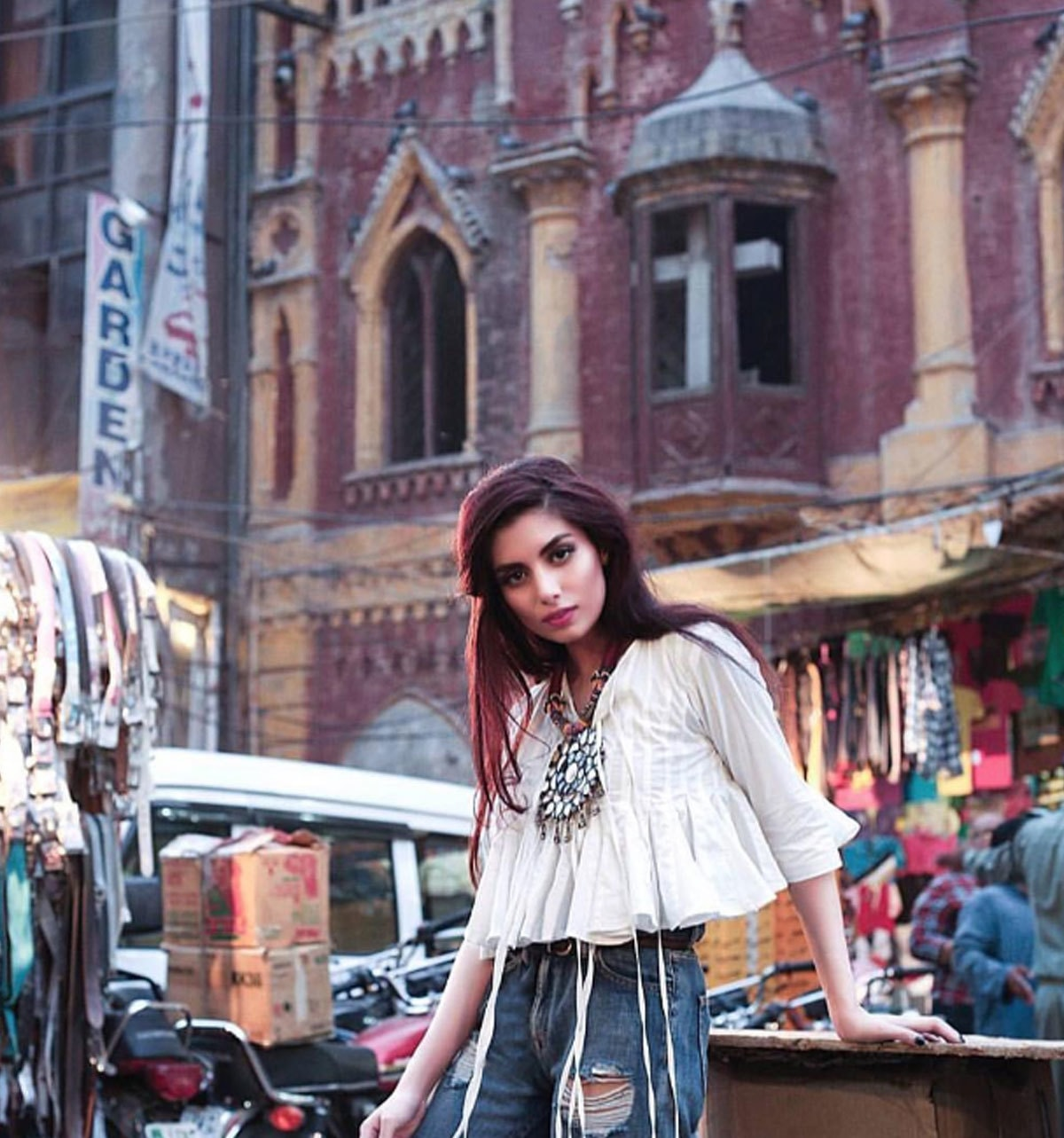 346755d3cc @zarapeerzada strikes a pose in Generation's crop top in this shot for  Destinations magazine.