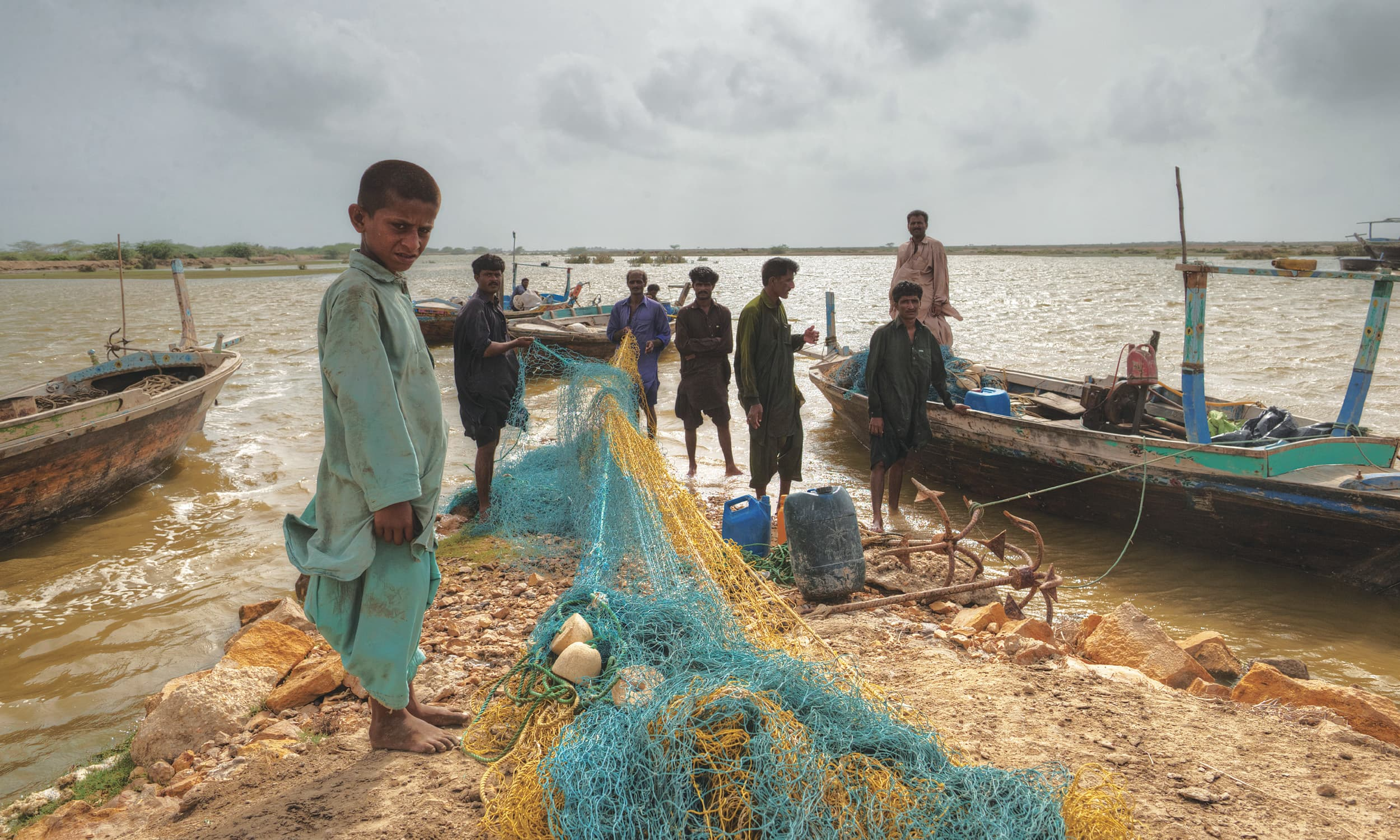 A makeshift fishermen's outpost along the coast near Keti Bandar | Kohi Marri