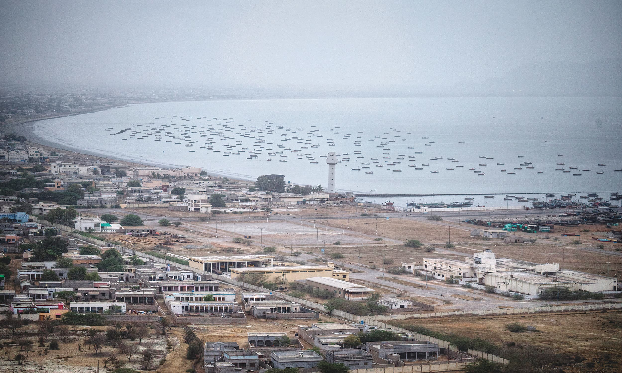 A view of Gwadar city from my hotel at dawn | Kohi Marri