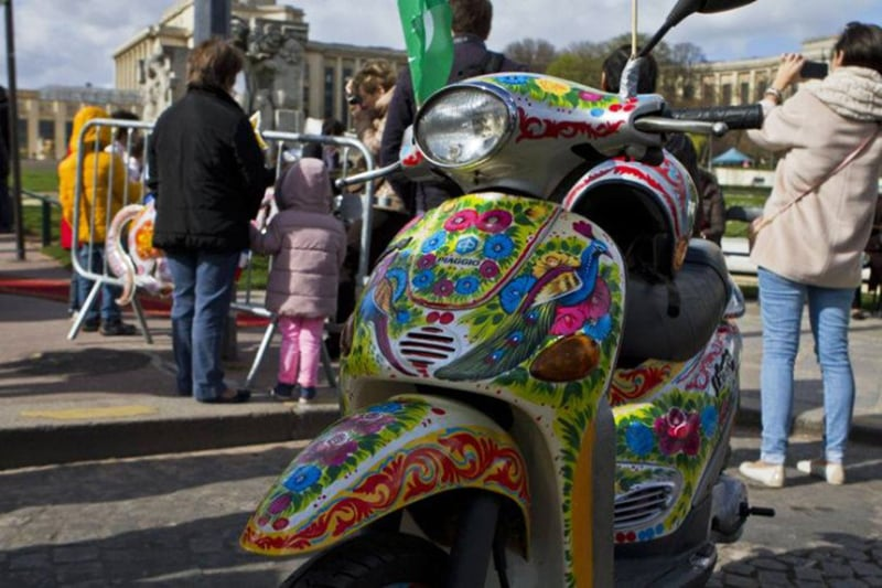 A scooter in Paris.