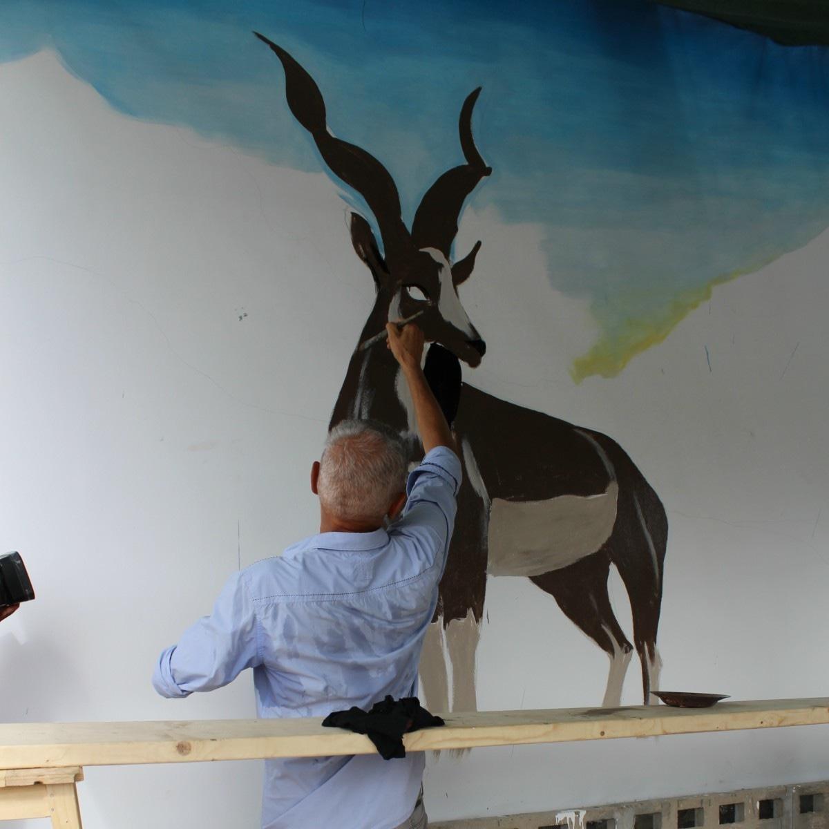 Maurizio draws the markhor