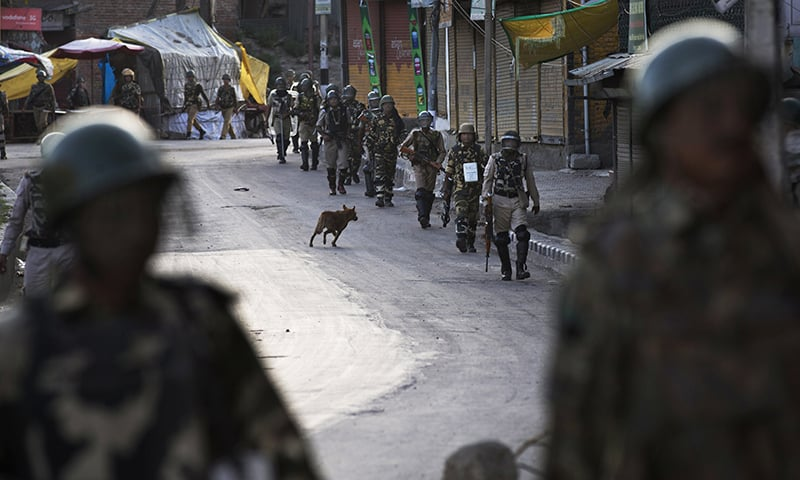 troops patrol in kashmir essay A heavily armed team of terrorists and pakistani troops ambushed an indian  patrol along the line of control (loc) in the poonch sector and killed five indian .