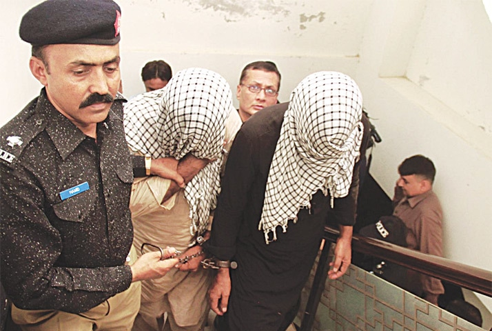 HYDERABAD: Suspects being taken to the police headquarters.—ONLINE