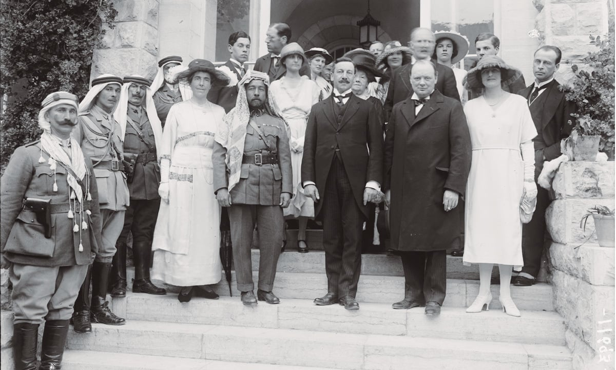 Mr and Mrs Winston Churchill at a Government House reception  on March 28, 1921 in Jerusalem, Palestine | United States Library of Congress