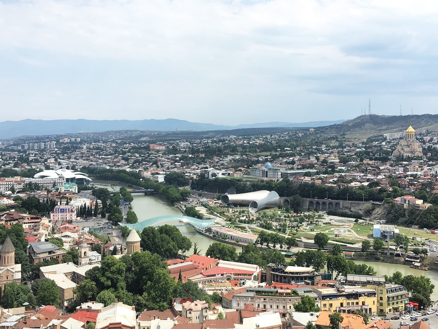 A view from the Narikala Fortress.