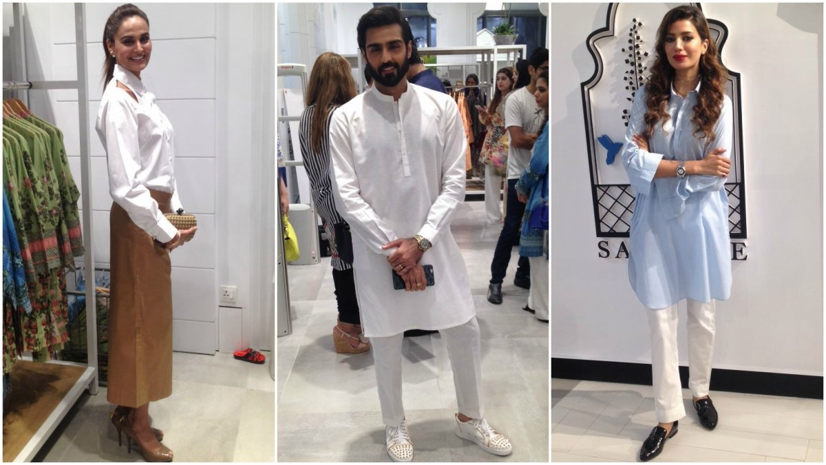 Mehreen Syed and Sapphire models Hasnain Lehri and Rabia Butt upped the celeb quotient of the launch