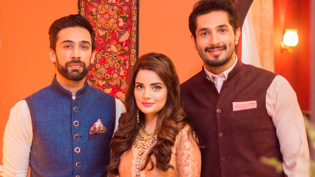 Behind-the-scenes from the upcoming film. Ali Rehman Khan, Armeena Rana Khan and Bilal Ashraf.