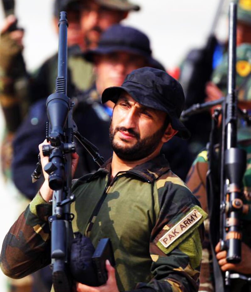 A Pakistan Army sniper at the competition. -Courtesy ISPR
