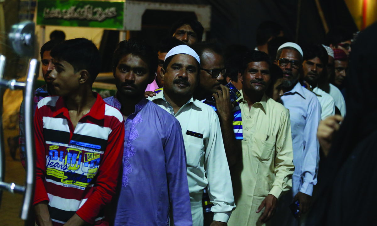 Audience in queue for Aamir Liaquat Hussain's show *Inaam Ghar* during Ramzan | Courtesy Geo Entertainment