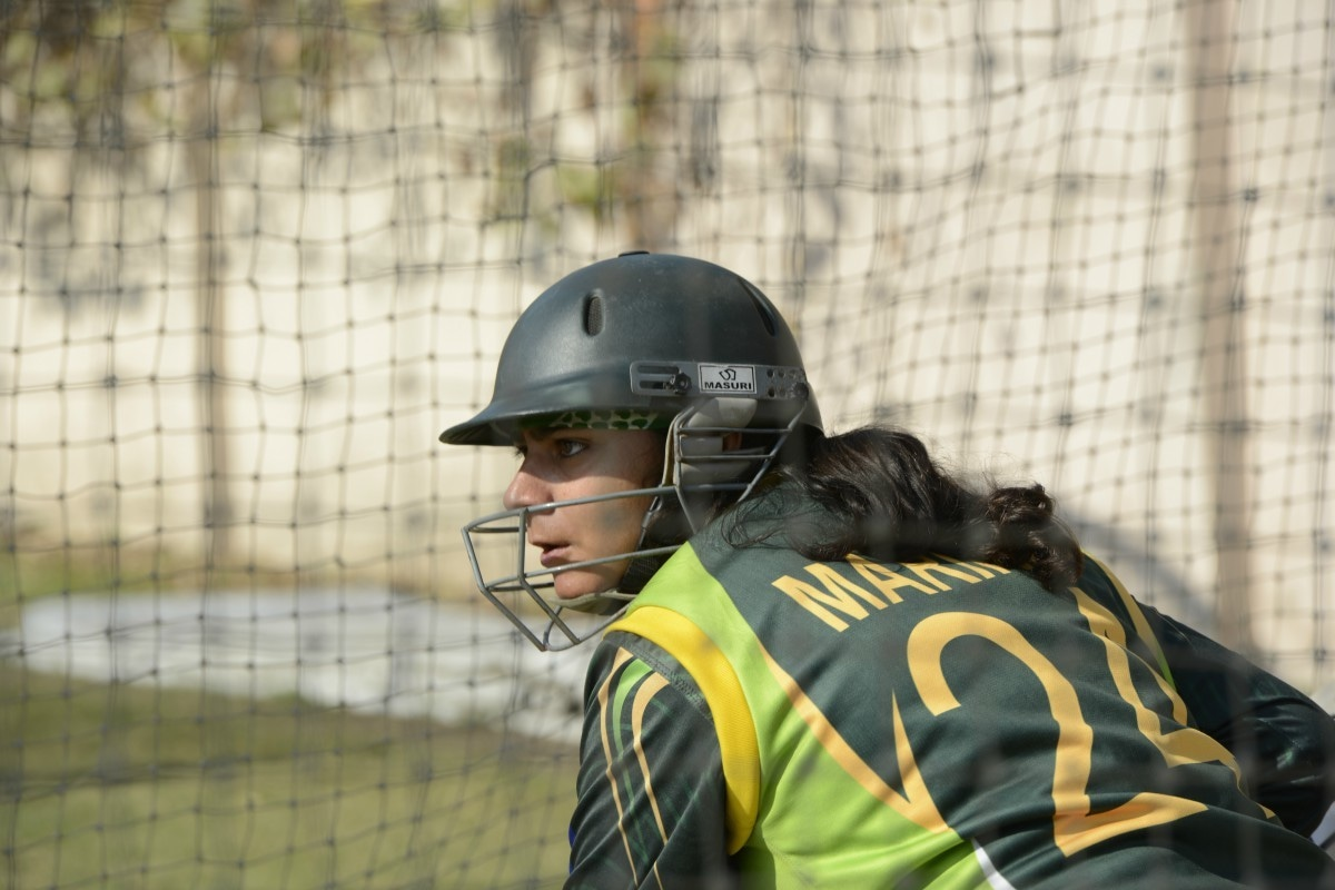 Marina Iqbal at the training camp at National Cricket Academy