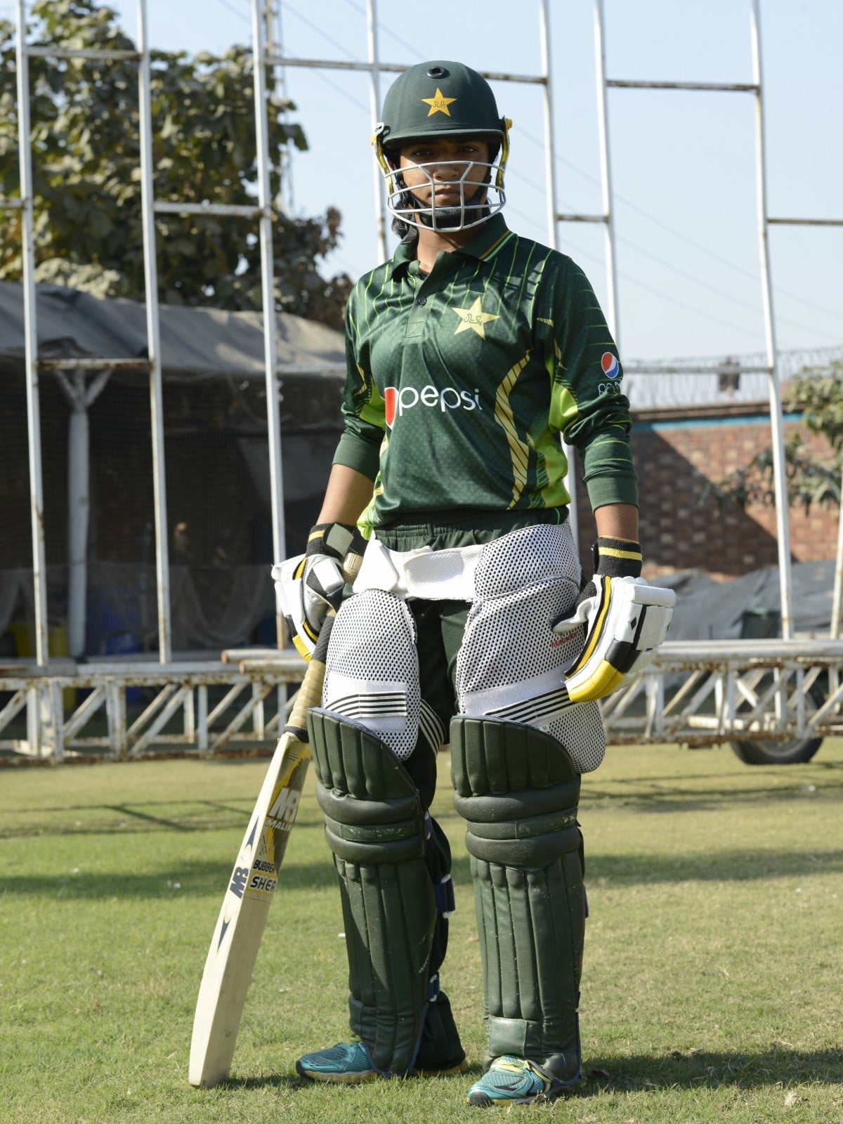 Sidra Ameen during the training camp at National Cricket Academy