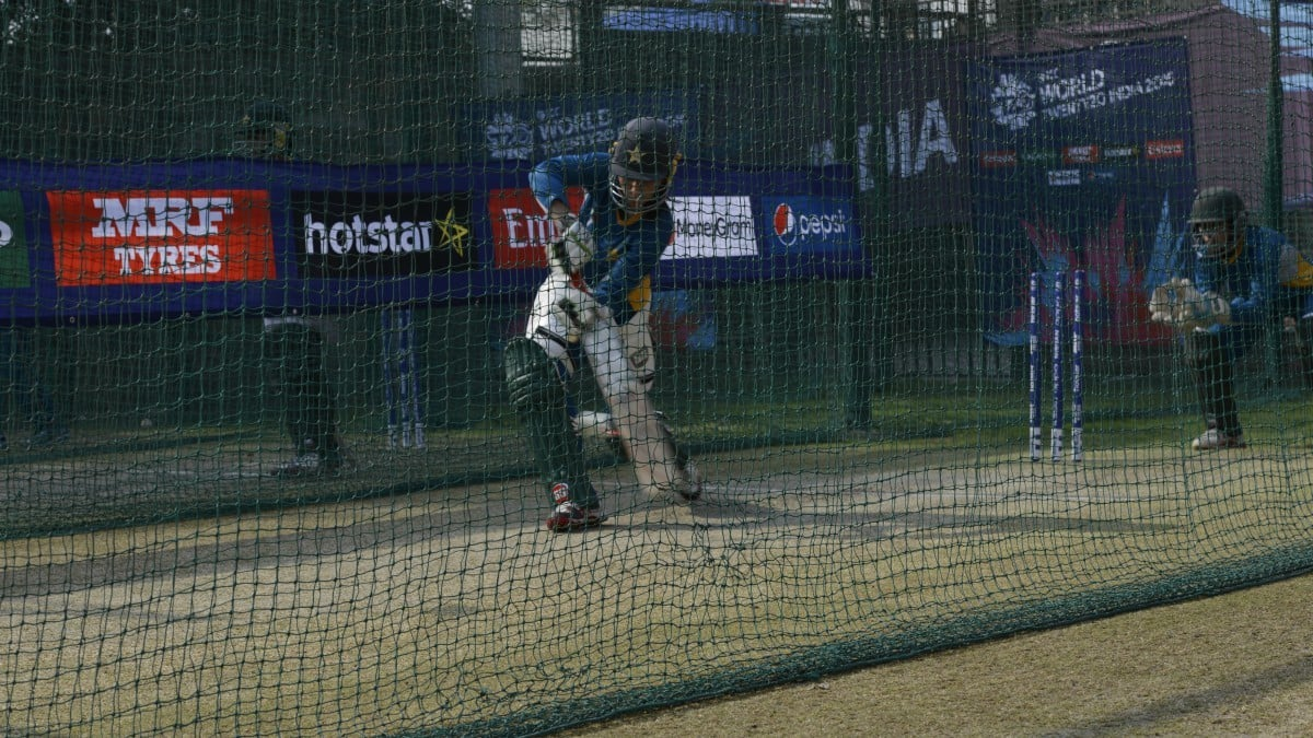 Muneeba Ali Siddiqi at the practice nets at Feroz Shah Kotla Stadium in Delhi, India