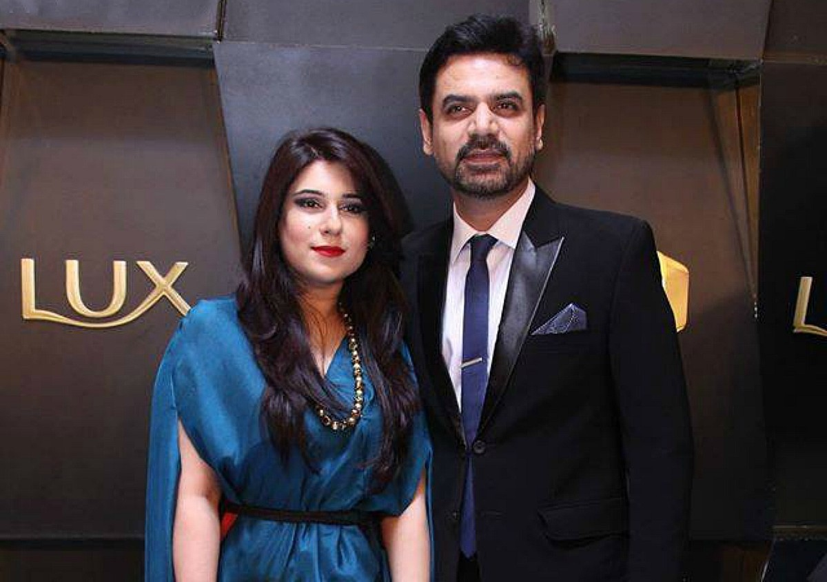 Vasay Chaudhary with his wife Mahera at the 2016 Lux Style Awards