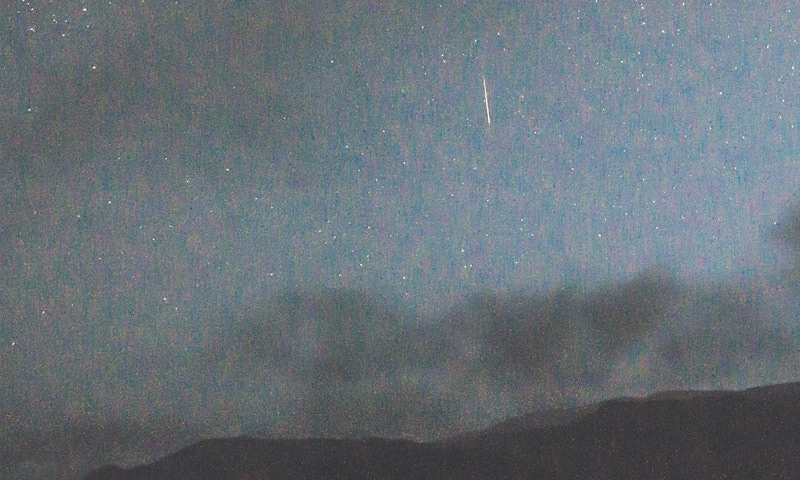 Perseid shower as seen in the Hingol National Park