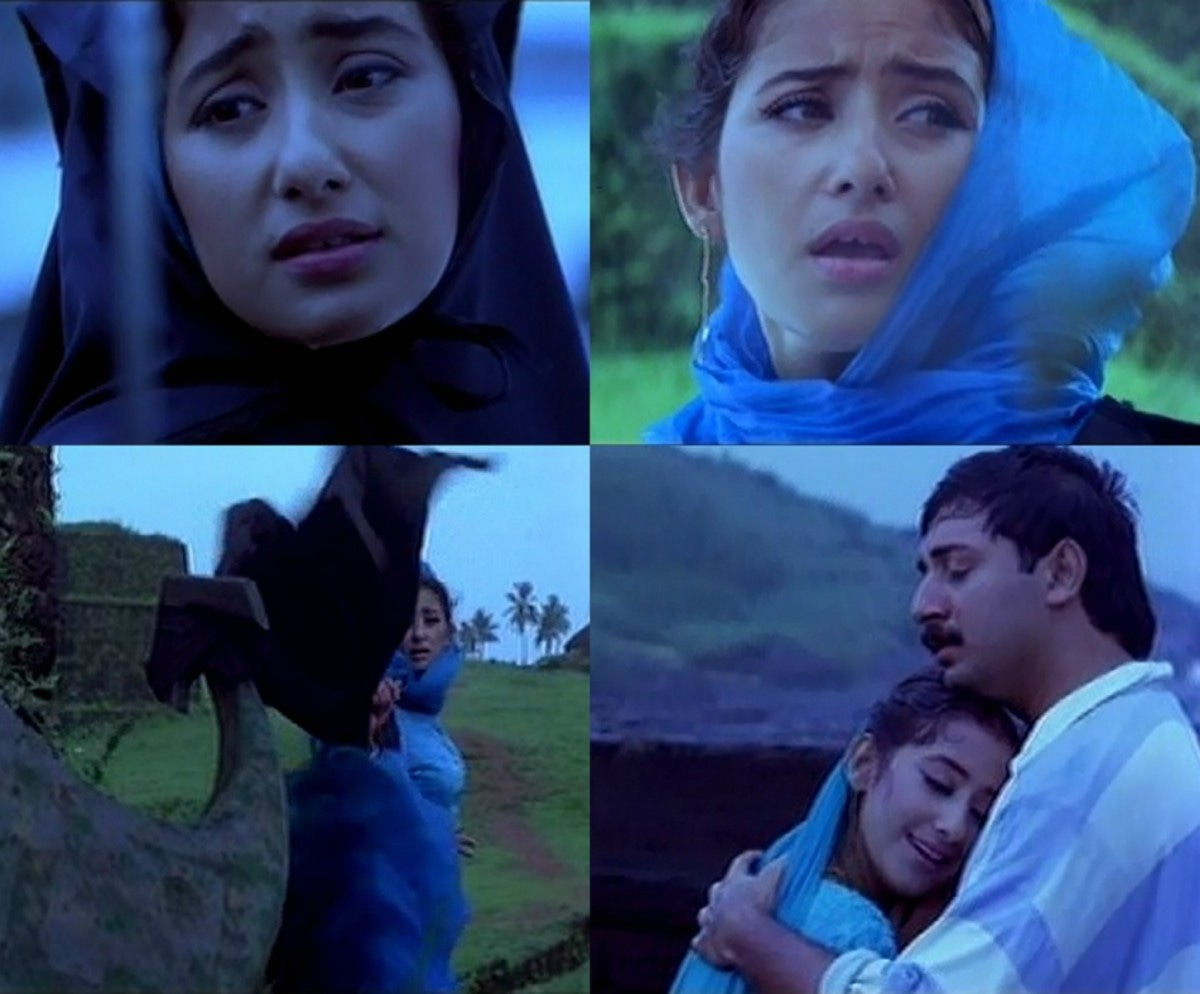 Shaila (Manisha Koirala) drops her burqa and gains love in *Bombay*