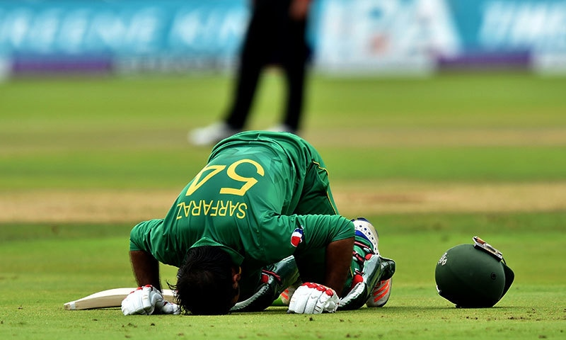 Sarfraz became only Pakistani wicketkeeper to score a century in England — AFP
