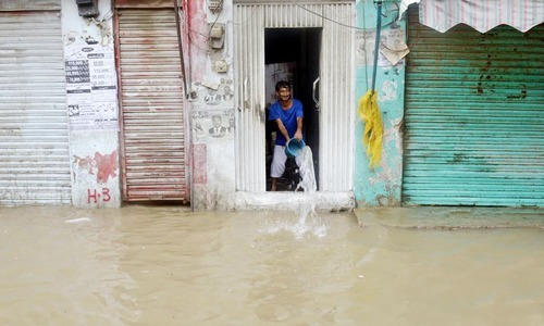 Rain water entered into homes due to improper drainage system.  —Online