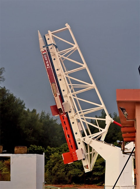 ISRO's scramjet engine test launch. ─ Photo courtesy ISRO website.