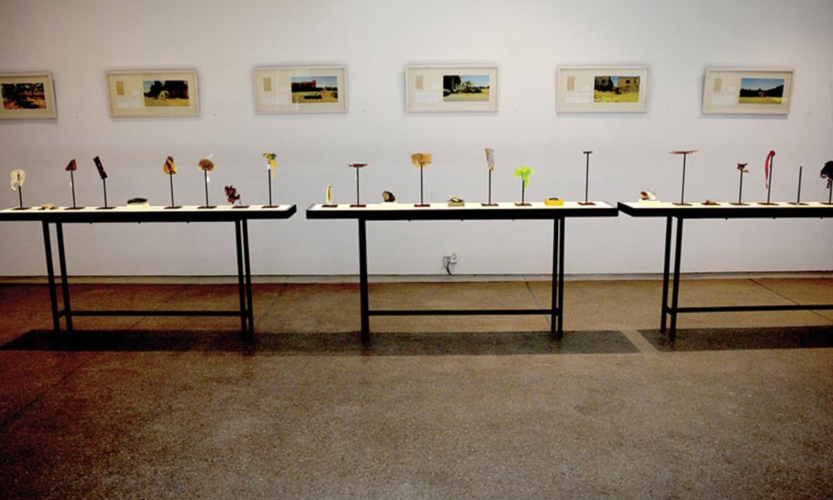 The installations by Omer Wasim and Saira Sheikh on display | Courtesy Canvas Gallery