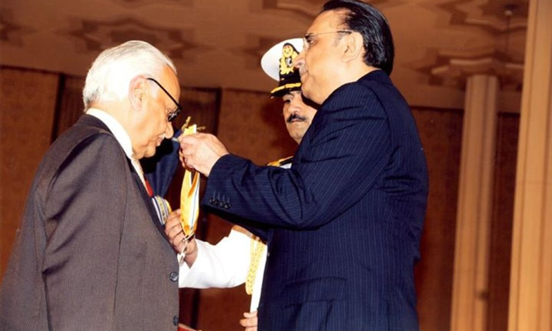 Malik was awarded the Sitara-i-Imtiaz on 14 August 2011, in view of appreciation of the positive journalism he practiced.—courtesy: Faisal  Zahid Malik