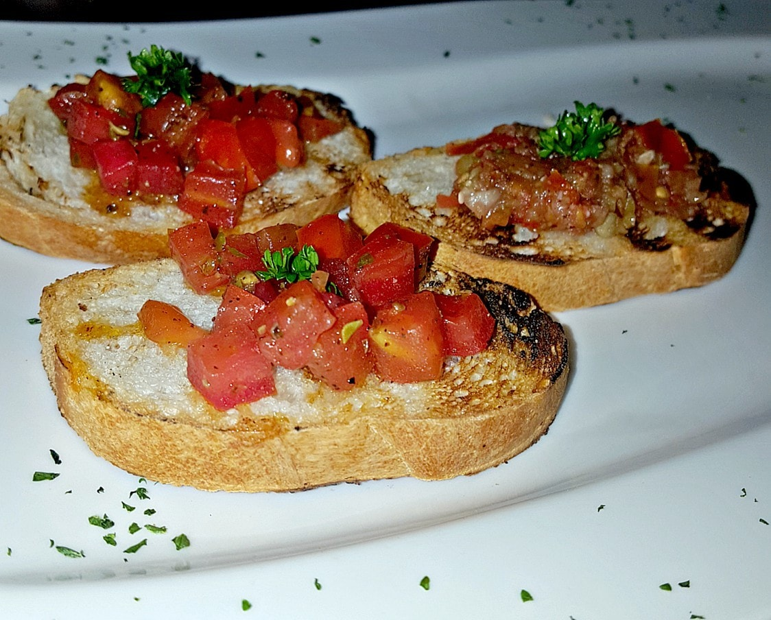 The bruschetta was a good start to the meal