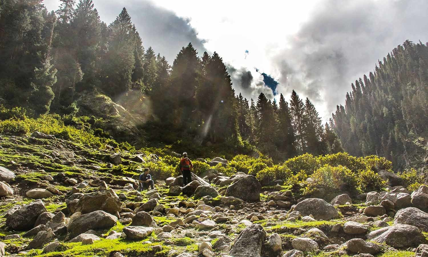 The trek to Bashigram Lake is surrounding by serene and outstanding panoramic landscape