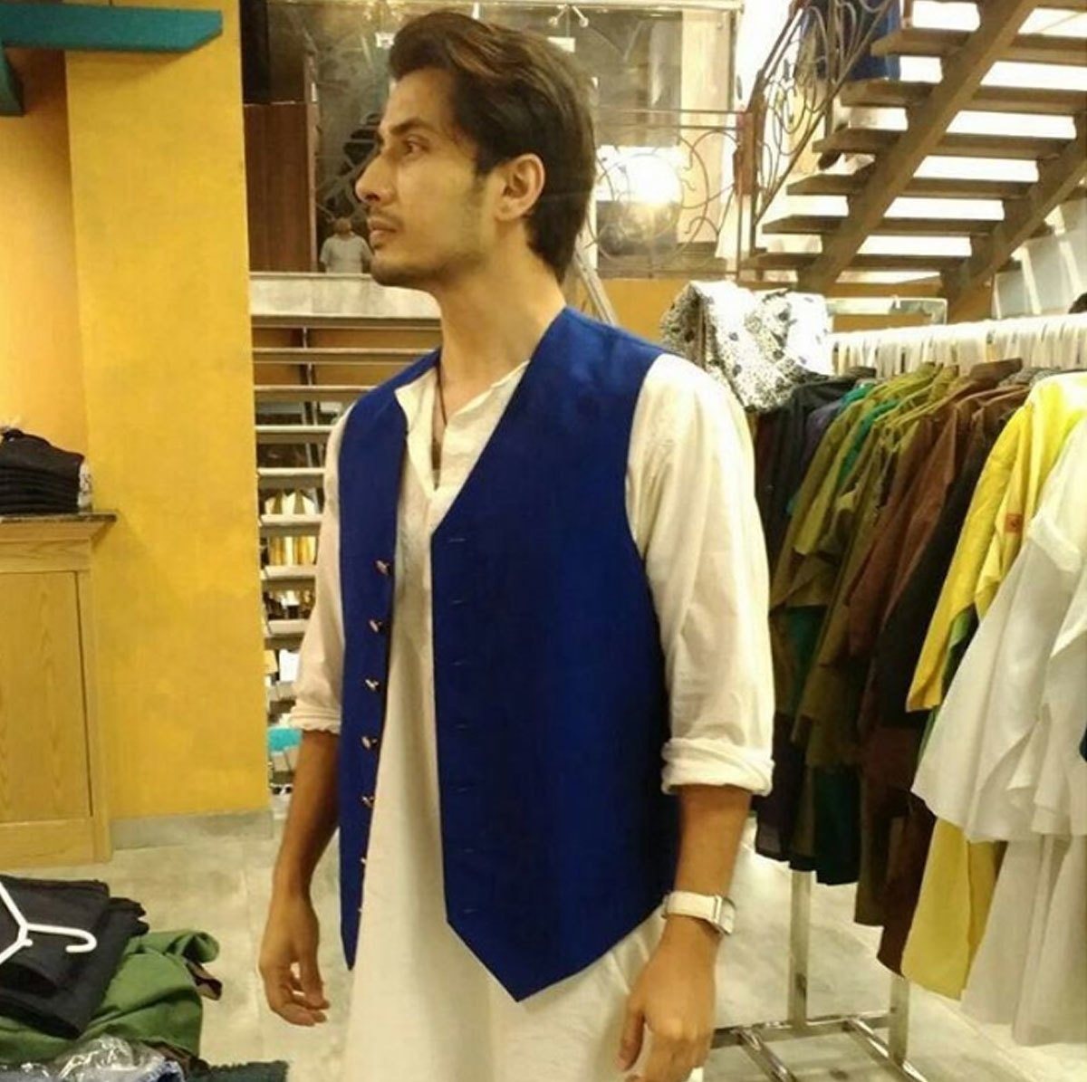 Ali Zafar trying out Amir Adnan days ahead of Eid. - Instagram