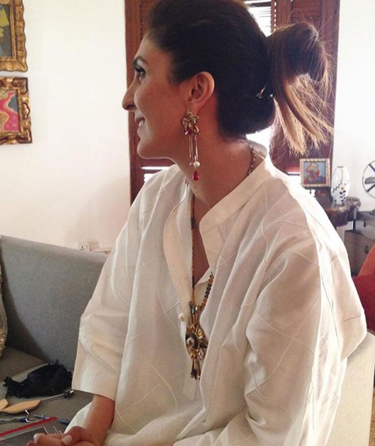 Khadija Shah in Misha Lakhani. - Instagram