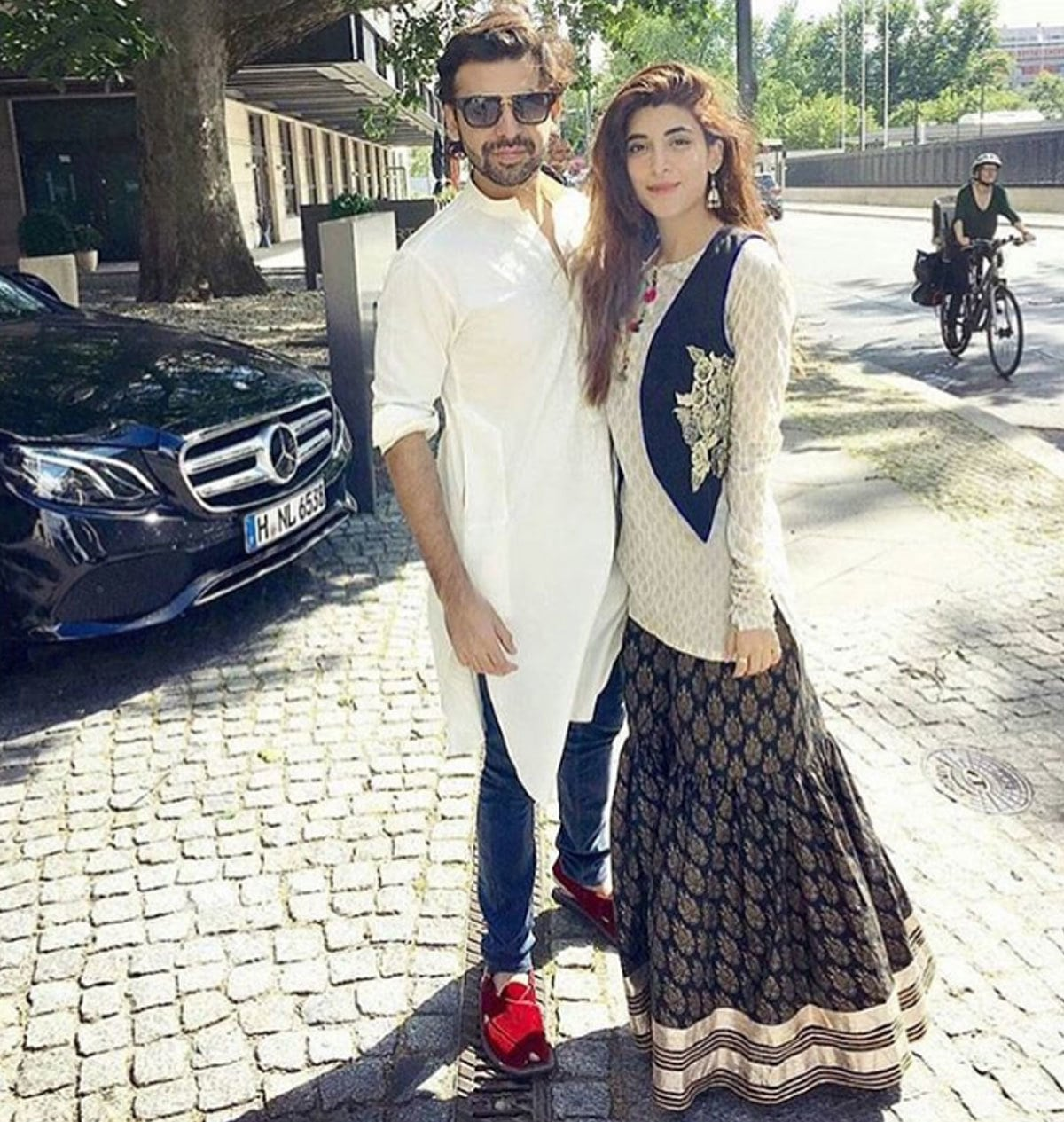 Farhan Saeed in his Eid kurta in Berlin. - Instagram