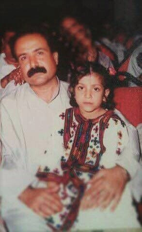 Missing social worker and publisher Abdul Wahid Baloch, with his daughter Hani