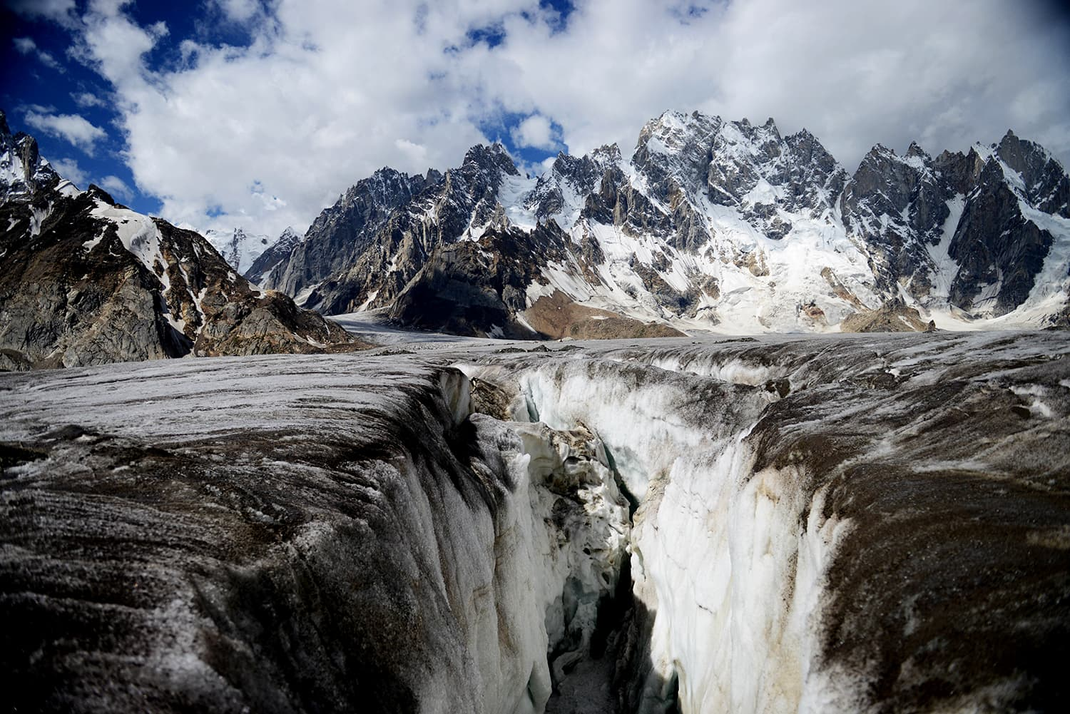 Crevasses of Biafo Glacier. ─ Photo by author