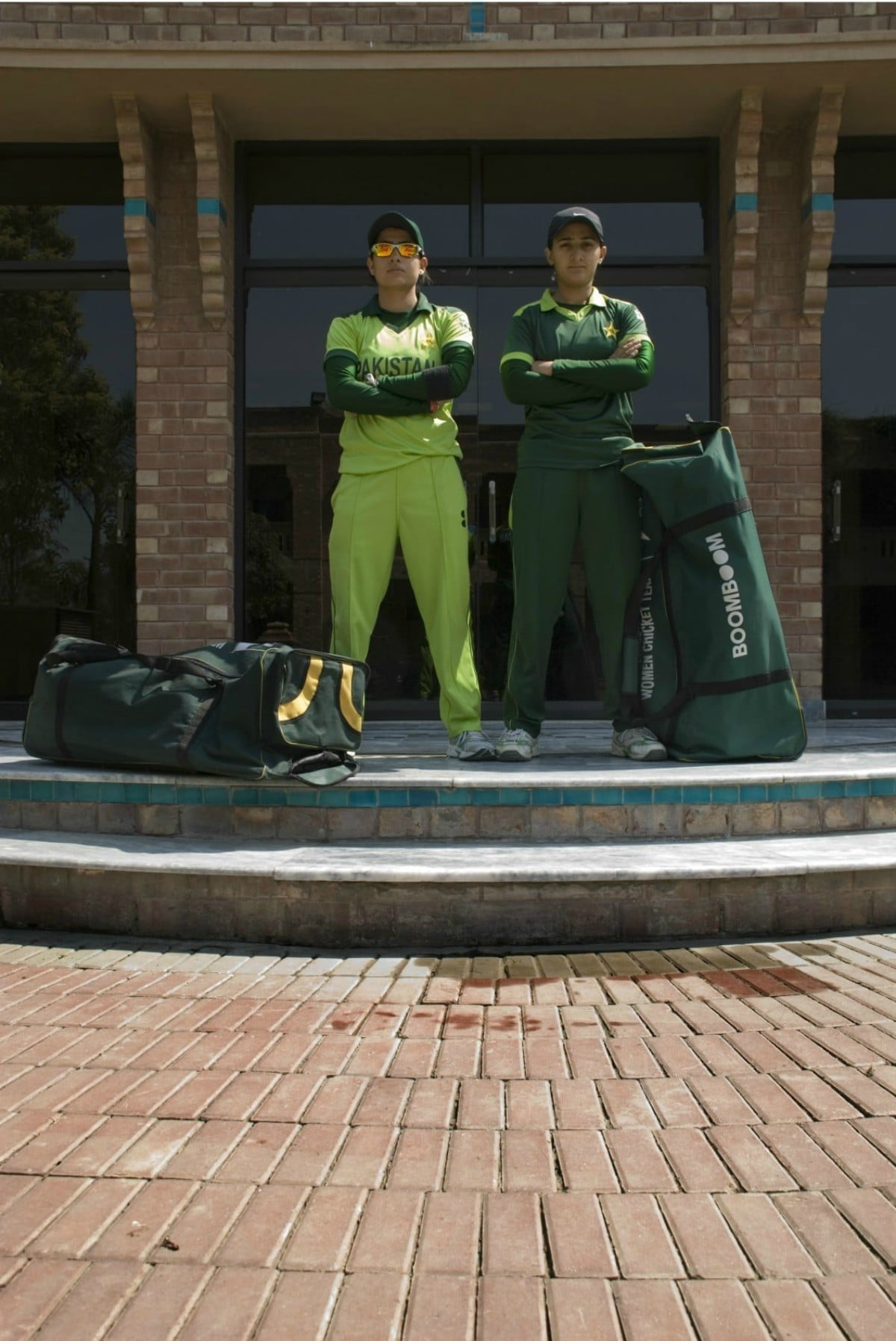 Captain ODI Sana Mir (left) and the recent Captain T-20 Bismah Maroof at the National Cricket Academy in 2011