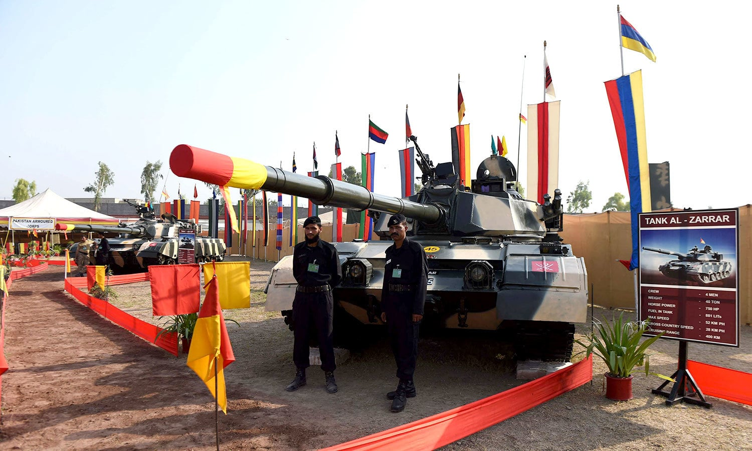 An Al-Zarrar tank at an exhibition organised by Pakistan Army. -AFP