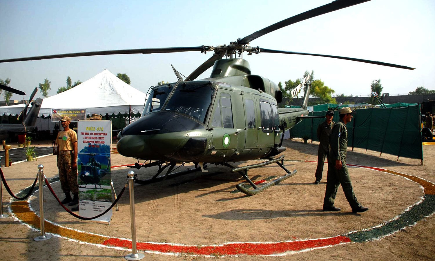 An Army Aviation helicopter being displayed. — APP