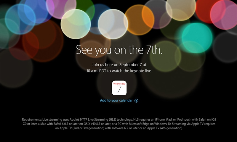 Apple sent out a mysterious invite encouraging people to join them for a Sept 7 event.