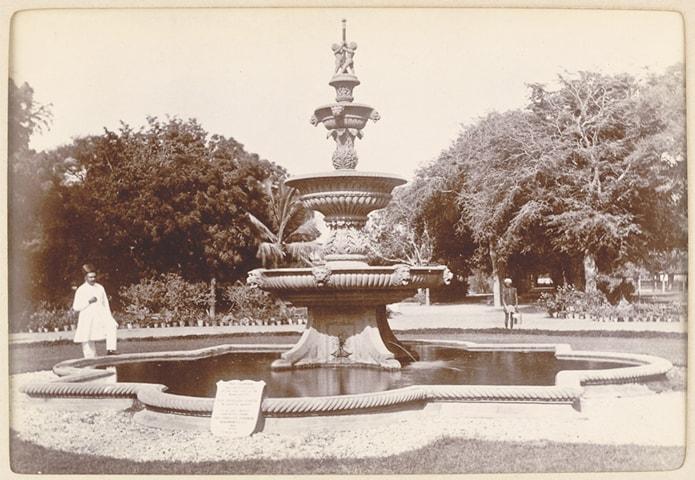 Fountain Constructed In 1883 In The Government Garden, Karachi (now Karachi  Zoo),