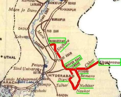 نقشے میں آپ میٹر گیج ریلوے لائن کا ٹریک دیکھ سکتے ہیں جو کہ ایک دائرے میں ہے. — بشکریہ اویس مغل۔