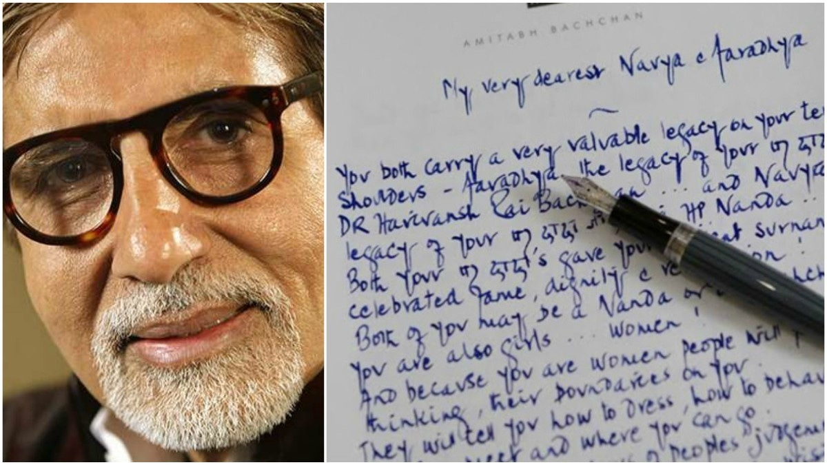 This Amitabh Bachchan fan thinks his letter to his granddaughters is a farce