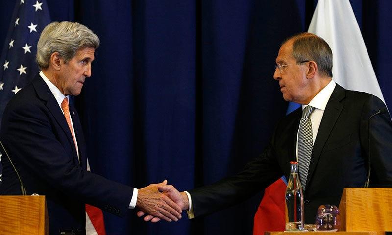 شام میں امریکا باغیوں کی جبکہ روس صدر بشارالاسد کی حمایت کرتا ہے—فوٹو/ اے پی