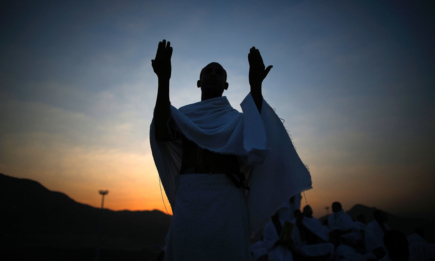 Pilgrims join one of the Haj rituals on Mount Arafat near Makkah. —  AFP