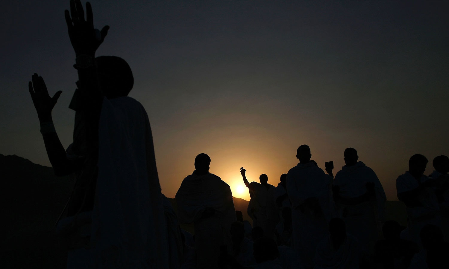 Muslims join one of the Haj rituals on Mount Arafat near Makkah. — AFP